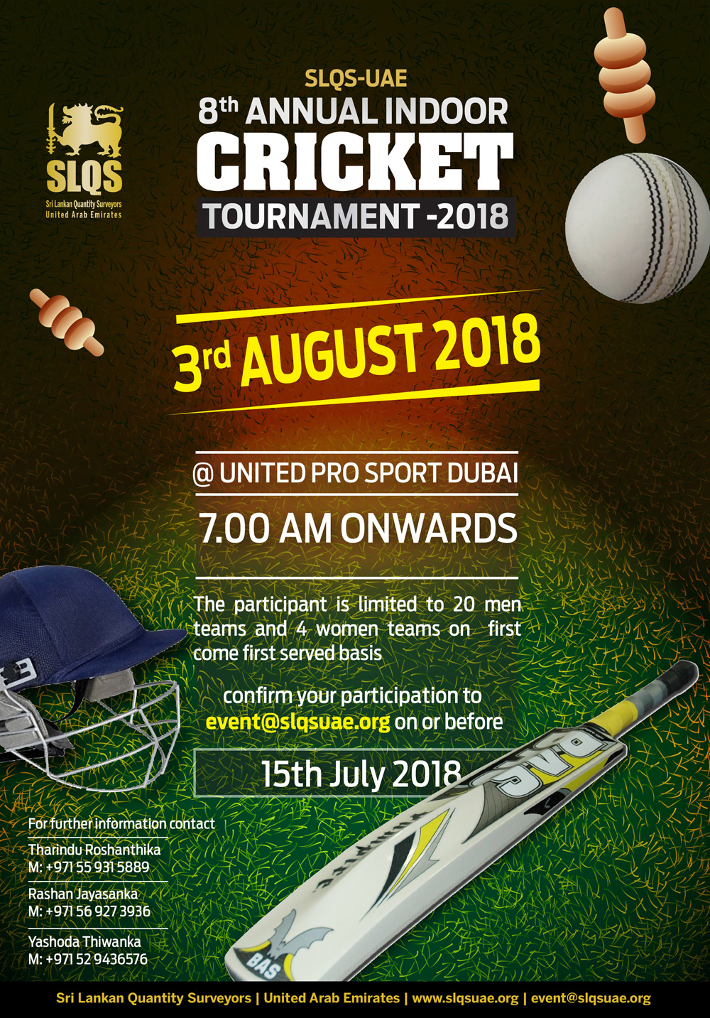 8th Annual Indoor Cricket Tournament 2018